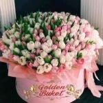 Шляпная коробка из 201 тюльпанов